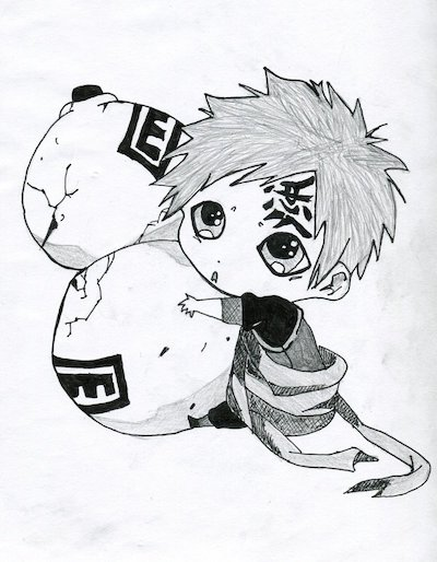 Chibi Gaara Crying Sketch